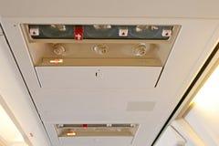 Détail d'intérieur d'avion photos stock
