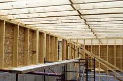 Détail d'intérieur de charpentier de construction Photographie stock libre de droits