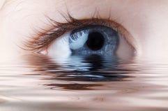 Détail d'oeil humain photographie stock