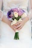 Détail d'un bouquet nuptiale Photos libres de droits