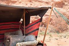 Détail d'un camp bédouin photo libre de droits