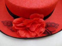 Détail d'un chapeau rouge Image libre de droits