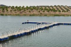 Dock flottant Photo libre de droits