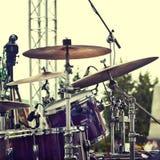 Détail d'un ensemble de tambour Photos stock