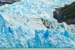 Détail d'un glacier Perito Moreno photo stock