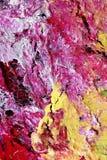 Détail d'un Handpainting abstrait montrant des fissures Images libres de droits