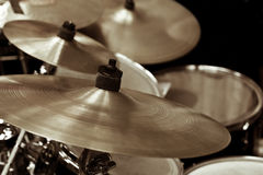 Détail d'un kit de tambour photo stock