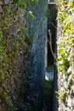 Détail d'un mur de la forteresse Nokalakevi Image stock