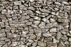 Détail d'un mur de pierres sèches Photos stock