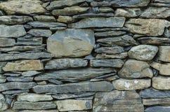 Détail d'un mur de pierres sèches de Cumbrian Images libres de droits