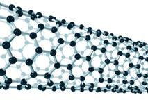 Détail d'un nanotube de carbone illustration libre de droits