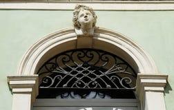 Détail d'un palais vénitien historique de style dans Este Este, région de Padoue, Vénétie image libre de droits