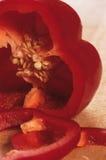 Détail d'un paprika rouge Photographie stock
