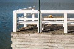 Détail d'un pilier en bois Image stock