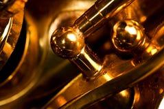 Détail d'un saxophone d'alt Images stock