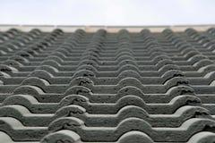 Détail d'un toit carrelé photo libre de droits