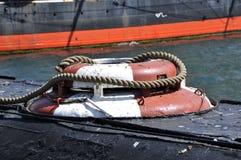 Détail d'un vieux navire à San Diego Photos stock