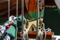 Détail d'un voilier Photos stock
