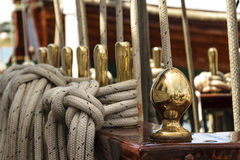 Détail d'un voilier Photos libres de droits