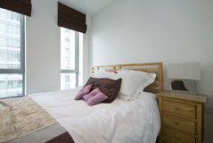 Détail d'une chambre à coucher de luxe moderne Image stock