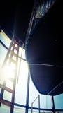 Détail d'une fenêtre de phare Images stock