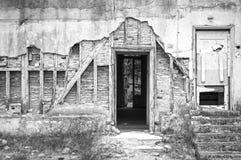 Détail d'une maison délabrée photo stock