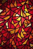 Détail d'une mosaïque avec les verres colorés Photos libres de droits