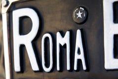 Détail d'une plaque de Roma Photographie stock libre de droits