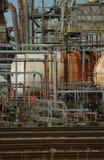 Détail d'une raffinerie 3 photos stock