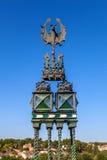 Détail d'une sculpture de l'Escalinata à Teruel Photo stock