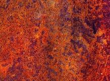Détail d'une texture grunge brune de tache de rouille image libre de droits