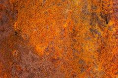 Détail d'une texture grunge brune de tache de rouille image stock