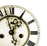Détail d'une vieille horloge Photographie stock libre de droits