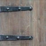 Détail d'une vieille trappe en bois Photographie stock