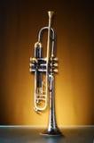 Détail d'une vieille trompette photos stock