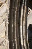Détail d'une voûte sur le pont de trinité, ston à trois voies du 14ème siècle Images stock