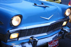 Détail d'une voiture bleue de vintage en Havana Cuba Images libres de droits