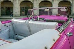 Détail d'une voiture cubaine de luxe de vintage Photo libre de droits