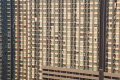 Détail de bâtiment de logement d'appartement, tour de logement Photo libre de droits
