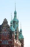 Détail de bâtiment historique dans le speicherstadt Hambourg Allemagne Photographie stock
