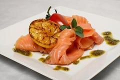 Détail de bande de saumons Photos stock