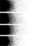 Détail de bannière de peinture de jet dans le noir au-dessus du blanc Images libres de droits