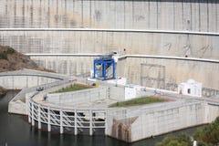 Détail de barrage d'Alqueva image stock