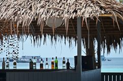 Détail de barre de plage en Thaïlande Images libres de droits