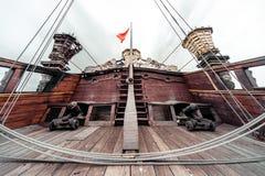 Détail de bateau de Galeone Neptune Photographie stock