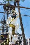 Détail de bateau de pirate de galion de Neptune à Gênes, Italie Photo libre de droits