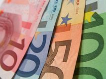 Détail de billets de banque Photos libres de droits