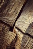 Détail de bois cassé Photos stock
