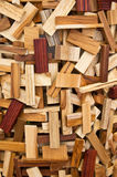Détail de bois de ractangle photographie stock