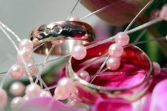 Détail de boucles de mariage Photographie stock